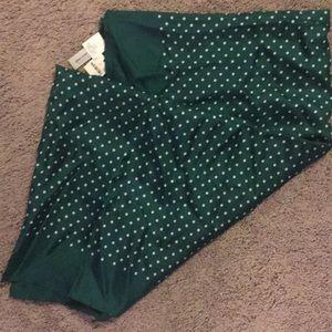NWT J. Crew Emerald Green Polka Dot Infinity Scarf
